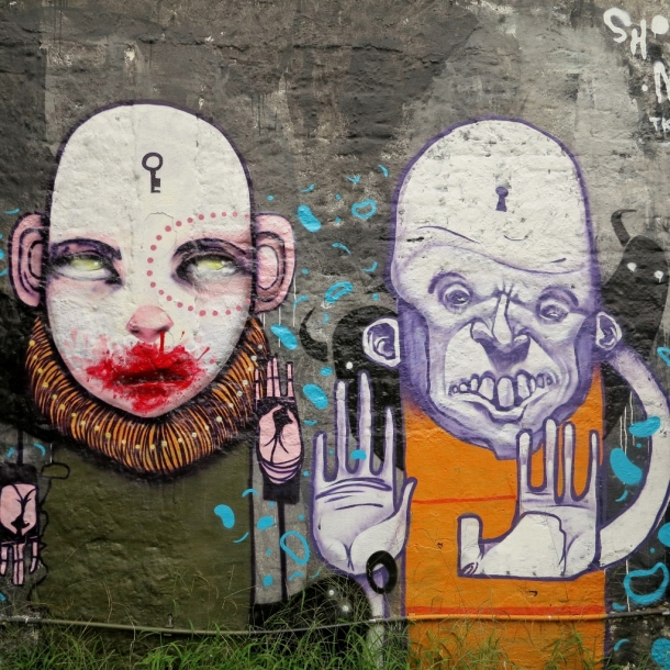 My favourite from Beco do Batman. Lock and key.