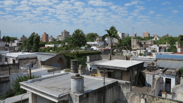 The view from the roof of Spanish in Rosario - coffee and cigarette and mental prep every morning before classes start