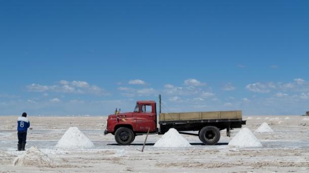 Mining salt is a manual job
