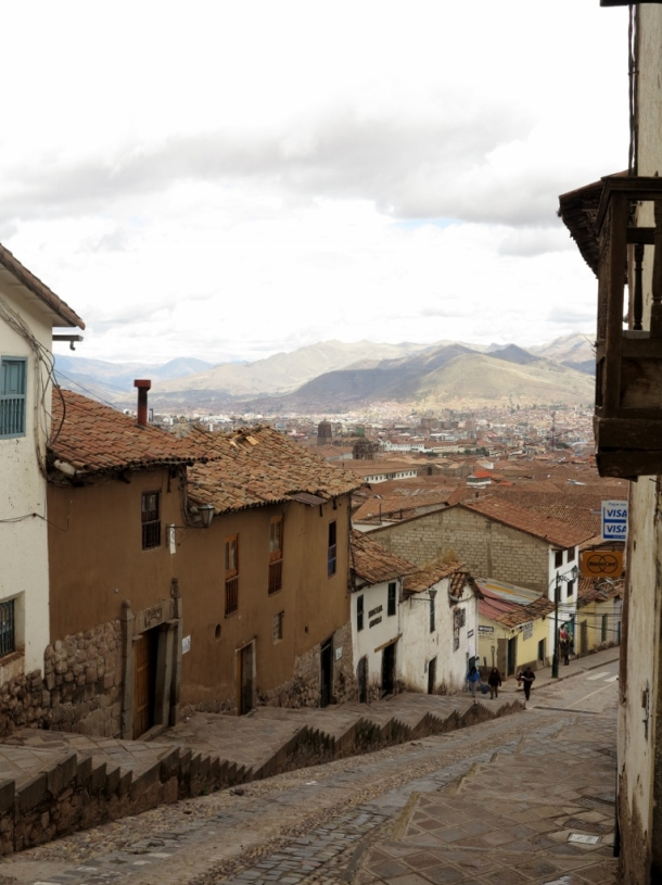 Cusco's steep streets